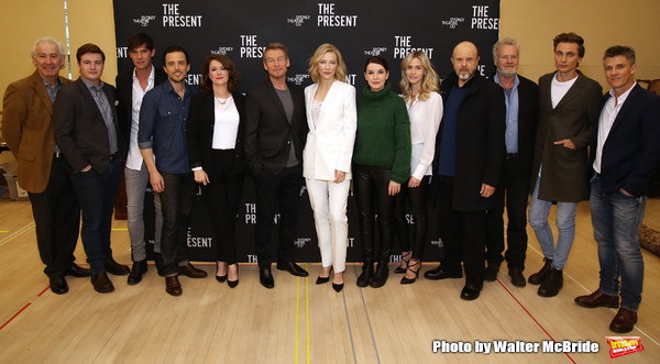 Richard Roxburgh and Cate Blanchett with the cast