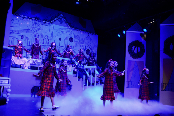 Sophie Knapp and the Cast of Madeline's Christmas that includes Hannah Moore, Simone Vysnovsky, Claire Kuntze, Charlotte Post-Lipnick, Toleeya Napolitano, Samantha Rascio, Brianna Haffenden, Madeleine Pace, Ally Veloudis, Hayden Declet and Alyssa Marin