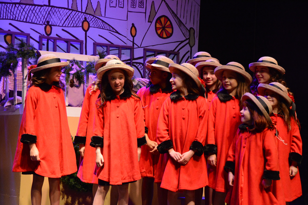 Sophie Knapp and The Cast of Madeline's Christmas that includes-Hannah Moore, Simone Vysnovsky, Claire Kuntze, Charlotte Post-Lipnick, Toleeya Napolitano, Samantha Rascio, Brianna Haffenden, Madeleine Pace, Ally Veloudis, Hayden Declet and Alyssa Marin