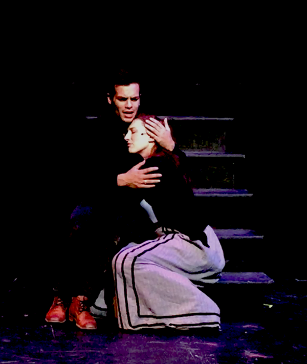 Cooper Howell (Johann Faustus) and Dianna Graham (Ana) in workshop production of IN T Photo