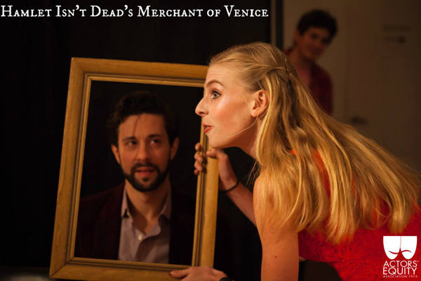 Michael Satow (Antonio), Samantha Maurice (Nerissa), & Michael Luca (Lorenzo)