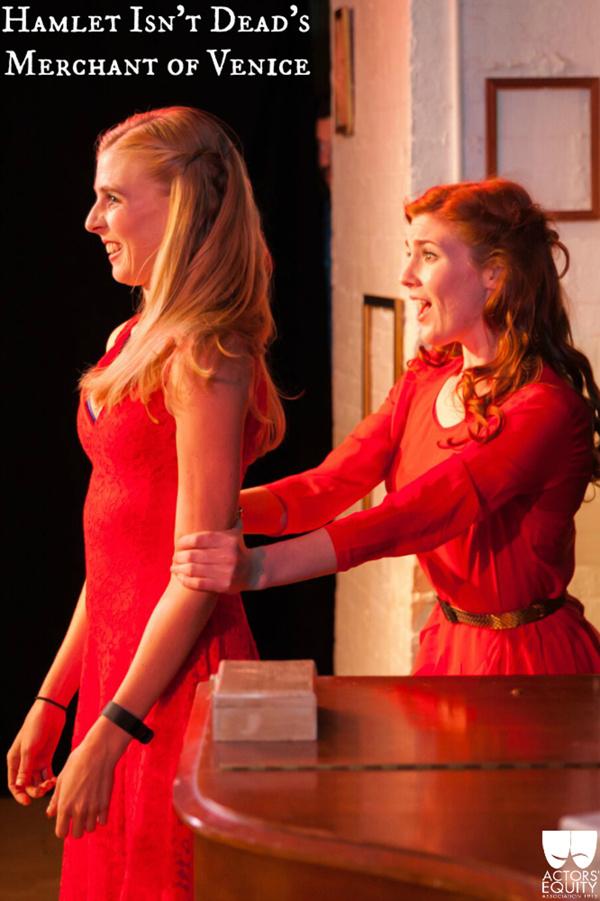 Samantha Maurice (Nerissa) & Mary McNulty (Portia) Photo
