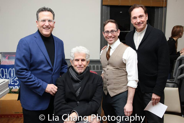 Elliott Forest, Tony Roberts, Garth Kravits, and Kevin Pariseau backstage at The Nyack Center.