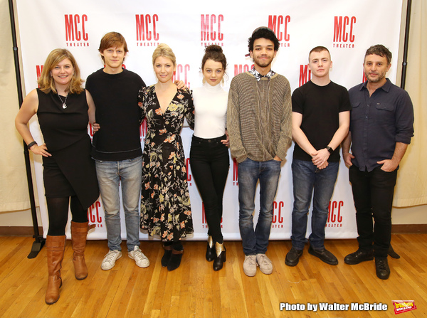 Anna Jordan, Lucas Hedges, Ari Graynor, Stefania Owen, Justice Smith, Jack DiFalco an Photo