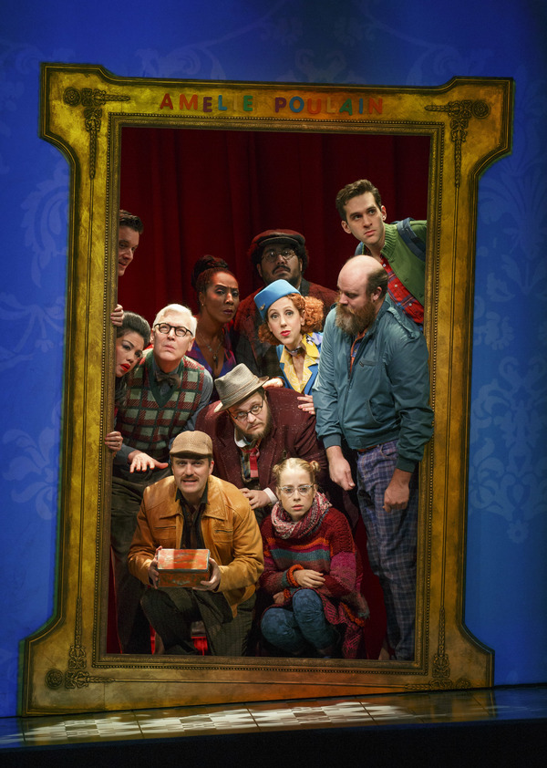 """The company of """"Amélie, A New Musical� at Center Theatre Group/Ahmanson Theatre. Photo by Joan Marcus."""
