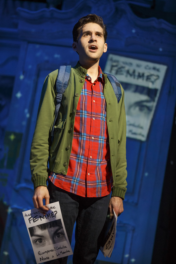"""Adam Chanler-Berat in """"Amélie, A New Musical� at Center Theatre Group/Ahmanson Theatre. Photo by Joan Marcus."""