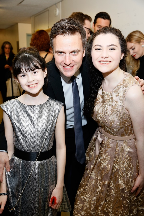 From left, cast members Savvy Crawford, Manoel Feliciano and actress Lilla Crawford p Photo