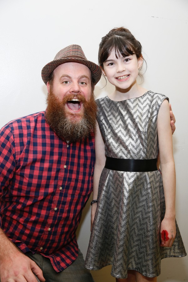 "From left, cast members Paul Whitty and Savvy Crawford pose backstage after the opening night performance of ""Amélie, A New Musical"" at Center Theatre Group/Ahmanson Theatre on Friday, December 16, 2016, in Los Angeles, California. (Photo by Ryan Mille"