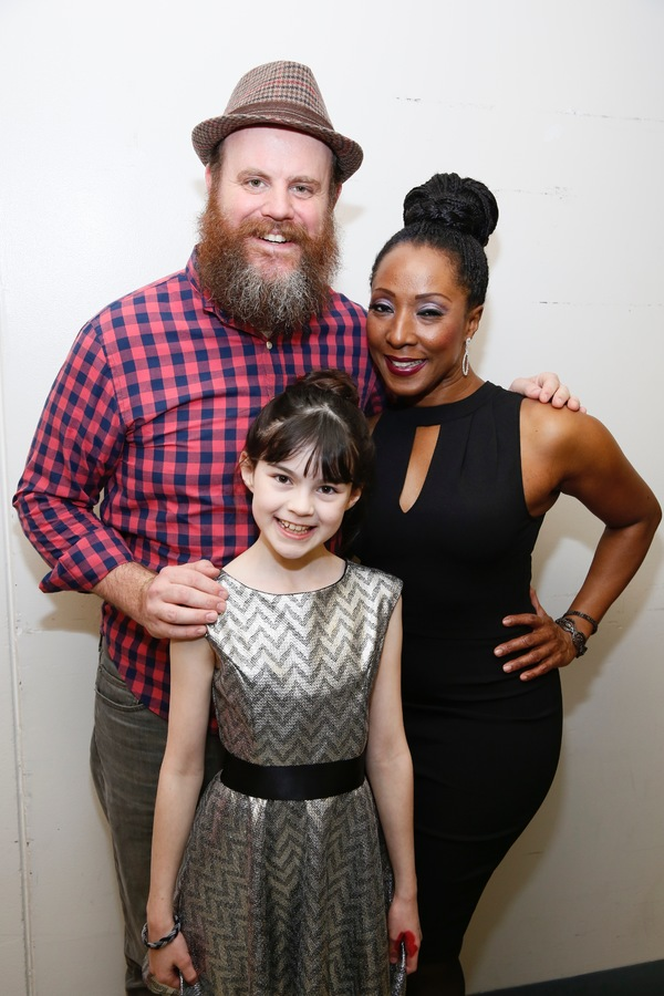 "From left, cast members Paul Whitty, Savvy Crawford and Harriett D. Foy pose backstage after the opening night performance of ""Amélie, A New Musical"" at Center Theatre Group/Ahmanson Theatre on Friday, December 16, 2016, in Los Angeles, California. (Pho"