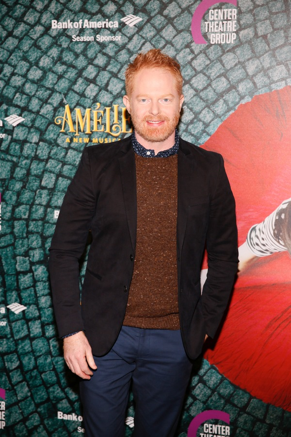 "Actor Jesse Tyler Ferguson arrives for the opening night performance of ""Amélie, A New Musical"" at Center Theatre Group/Ahmanson Theatre on Friday, December 16, 2016, in Los Angeles, California. (Photo by Ryan Miller/Capture Imaging)"