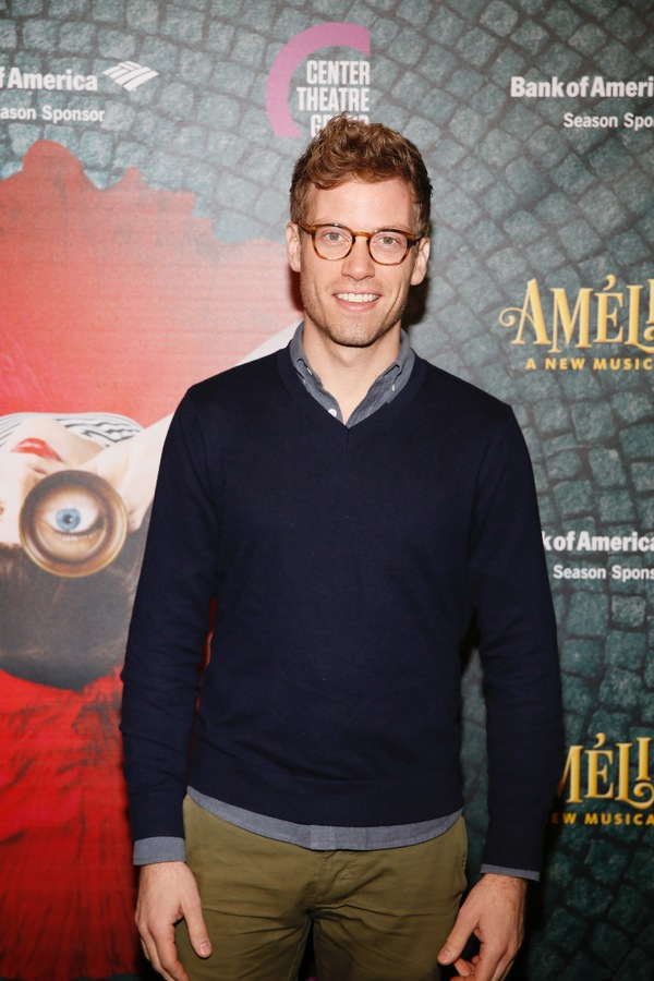 """Actor Barrett Foa arrives for the opening night performance of """"Amélie, A New Musical"""" at Center Theatre Group/Ahmanson Theatre on Friday, December 16, 2016, in Los Angeles, California. (Photo by Ryan Miller/Capture Imaging)"""