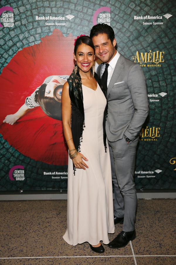 """Actors Sabina Zuniga Varela and Miles Gaston Villanueva arrive for the opening night performance of """"Amélie, A New Musical"""" at Center Theatre Group/Ahmanson Theatre on Friday, December 16, 2016, in Los Angeles, California. (Photo by Ryan Miller/Capture I"""