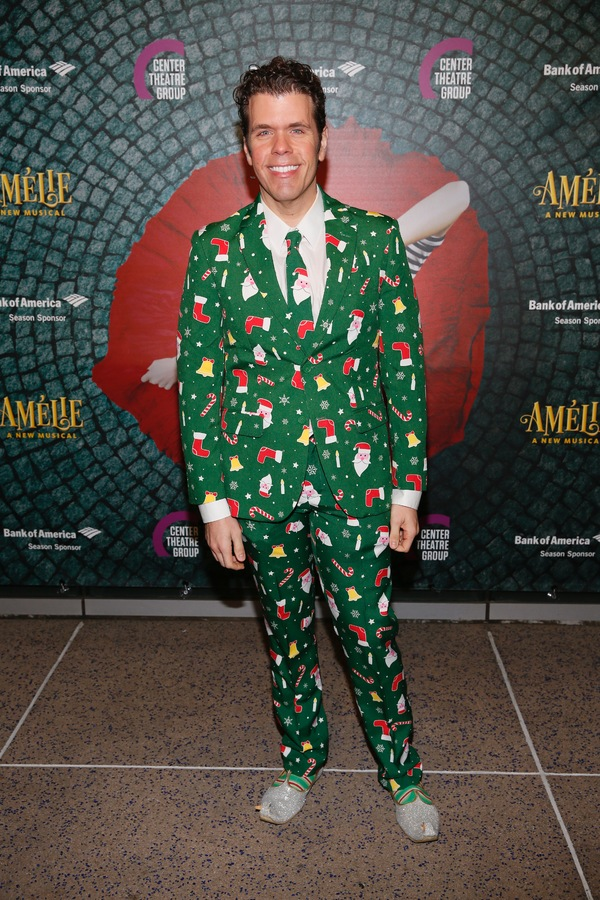 """Perez Hilton arrives for the opening night performance of """"Amélie, A New Musical"""" at Center Theatre Group/Ahmanson Theatre on Friday, December 16, 2016, in Los Angeles, California. (Photo by Ryan Miller/Capture Imaging)"""
