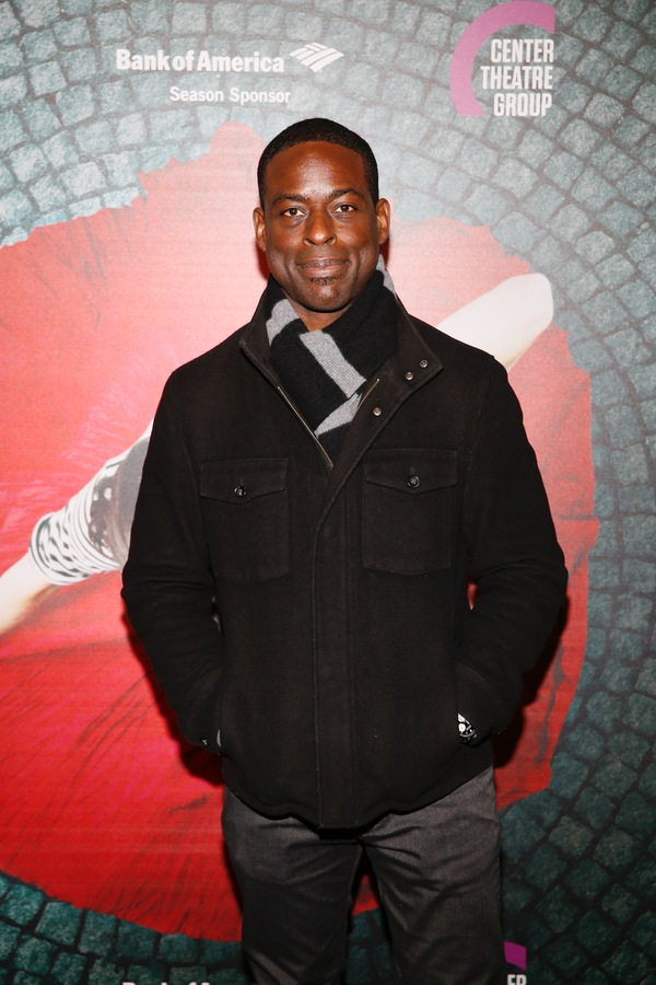 "Actor Sterling K. Brown arrives for the opening night performance of ""Amélie, A New Musical"" at Center Theatre Group/Ahmanson Theatre on Friday, December 16, 2016, in Los Angeles, California. (Photo by Ryan Miller/Capture Imaging)"