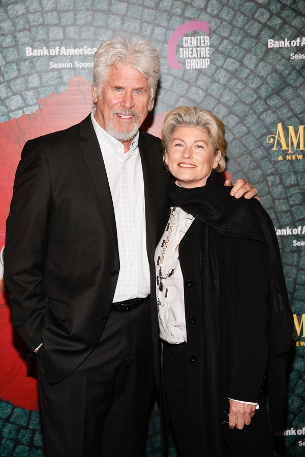 "From left, actors Barry Bostwick and Sherri Jensen arrive for the opening night performance of ""Amélie, A New Musical"" at Center Theatre Group/Ahmanson Theatre on Friday, December 16, 2016, in Los Angeles, California. (Photo by Ryan Miller/Capture Imagin"