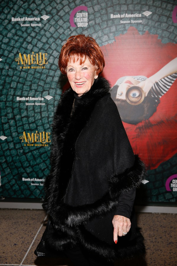 "Actor Marion Ross arrives for the opening night performance of ""Amélie, A New Musical"" at Center Theatre Group/Ahmanson Theatre on Friday, December 16, 2016, in Los Angeles, California. (Photo by Ryan Miller/Capture Imaging)"