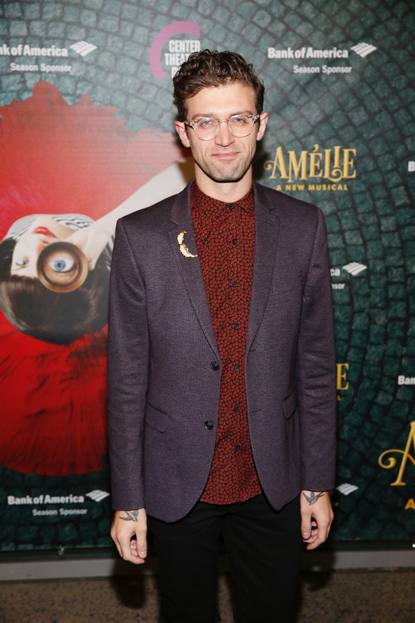 "Choreographer Sam Pinkleton arrives for the opening night performance of ""Amélie, A New Musical"" at Center Theatre Group/Ahmanson Theatre on Friday, December 16, 2016, in Los Angeles, California. (Photo by Ryan Miller/Capture Imaging)"