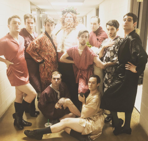 Photo Flash: CHARLIE Winds Down, SWEET CHARITY Boys Welcome a New Member, and More Saturday Intermission Pics!