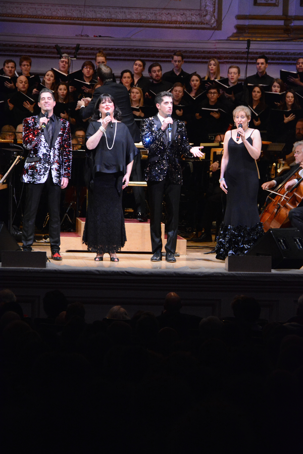 Will Nunziata, Ann Hampton Callaway,  Anthony Nunziata and Liz Callaway
