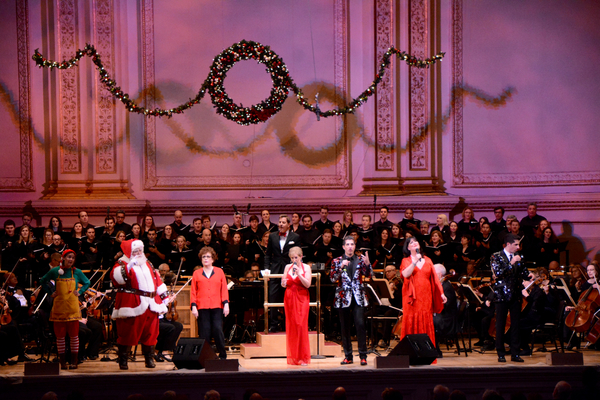 The New York Pops and Essential Voices USA with Santa Claus Judith Clurman, Steven Reineke, Liz Callaway Will Nunziata and Ann Hampton Callaway