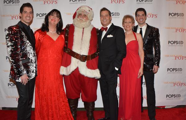 Will Nunziata, Ann Hampton Callaway, Santa Claus, Steven Reineke, Liz Callaway and Anthony Nunziata