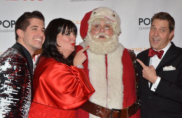 Will Nunziata, Ann Hampton Callaway, Santa Claus and Steven Reineke