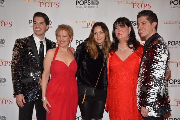 Anthony Nunziata, Liz Callaway, Katherine McPhee, Ann Hampton Callaway and Will Nunziata