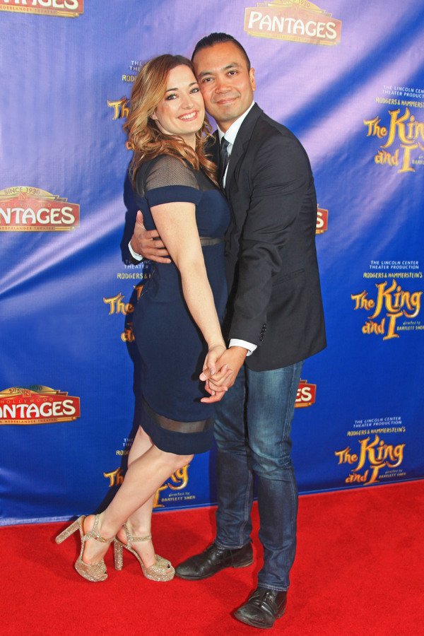 Laura Michelle Kelly and Jose Llana