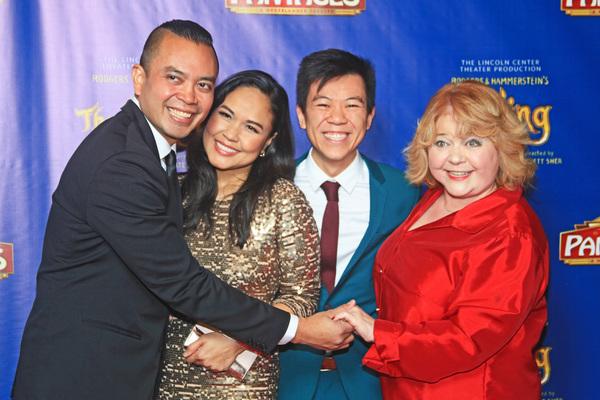 Jose Llana, Joan Almedilla, Anthony Chan, and Patrika Darbo