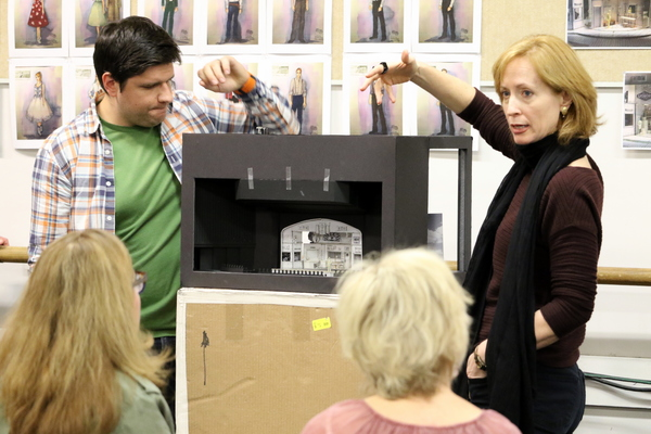 Kyle Longwell and  Susan V. Booth explain the set