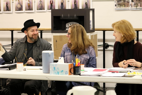 Kristian Bush, Playwright Janece Shaffer, and  Susan V. Booth Photo