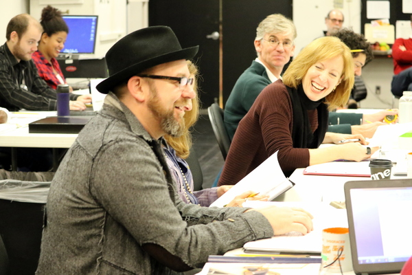 Kristian Bush, Playwright Janece Shaffer,  Susan V. Booth, and Stage Manager Bret Torbeck