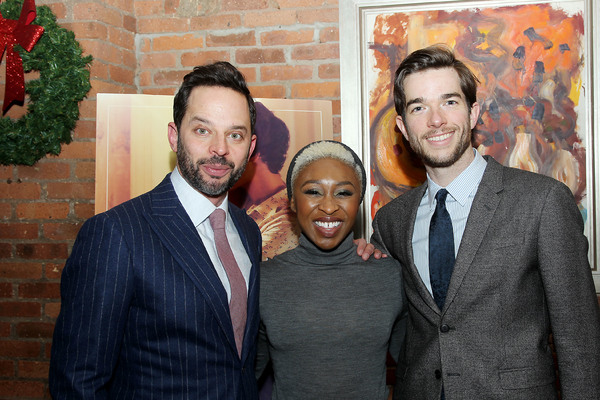 "-  New York, NY - 12/19/16 - A Special Holiday Screening of ""LOVING""  -Pictured: Nick Kroll, Cynthia Erivo, John Mulaney -Photo by: Marion Curtis/Starpix -Location: Tribeca Screening Room"