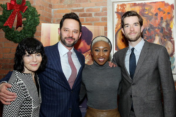 "-  New York, NY - 12/19/16 - A Special Holiday Screening of ""LOVING""  -Pictured: Nancy Buirski, Nick Kroll, Cynthia Erivo, John Mulaney -Photo by: Marion Curtis/Starpix -Location: Tribeca Screening Room"