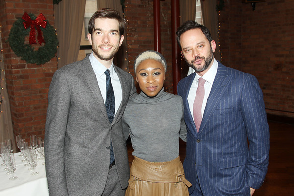 "-  New York, NY - 12/19/16 - A Special Holiday Screening of ""LOVING""  -Pictured: John Mulaney, Cynthia Erivo, Nick Kroll -Photo by: Marion Curtis/Starpix -Location: Tribeca Screening Room"