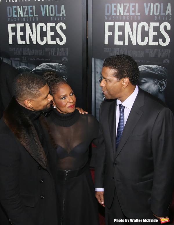 Usher and Pauletta Washington and Denzel Washington