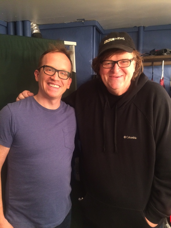 Chris Gethard and Michael Moore Photo
