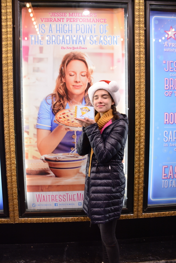 Photo Flash: Stars of YOU'RE A GOOD MAN, CHARLIE BROWN Spread Holiday Cheer Across the Great White Way