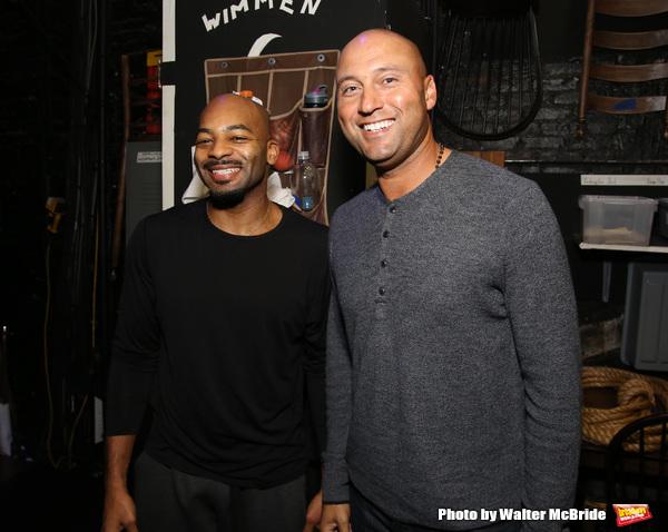 Brandon Victor Dixon with Derek Jeter Photo