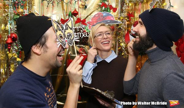 Lin-Manuel Miranda, Cate Blanchett and Josh Groban  Photo