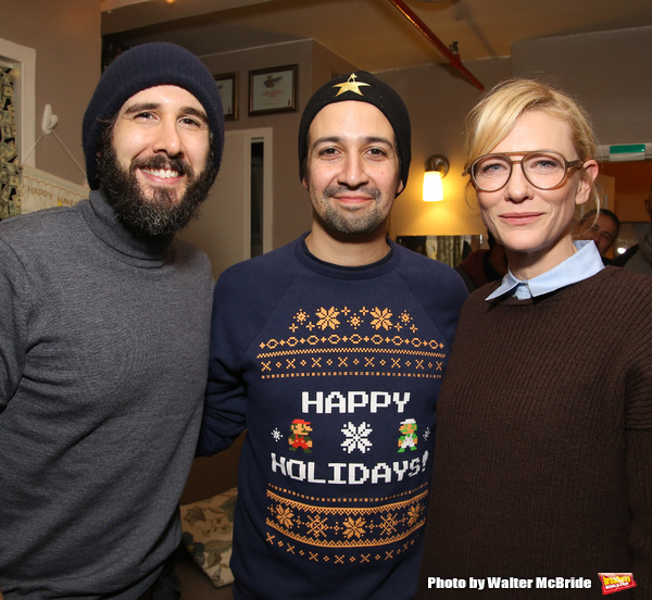 Josh Groban, Lin-Manuel Miranda and Cate Blanchett  Photo
