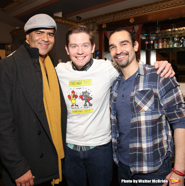 Christopher Jackson, Rory Oâ€Malley and Javier Munoz