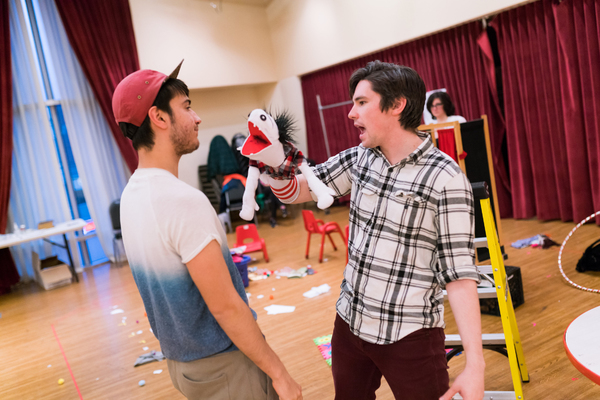 Photo Flash: Inside Rehearsal for SpeakEasy's HAND TO GOD New England Premiere
