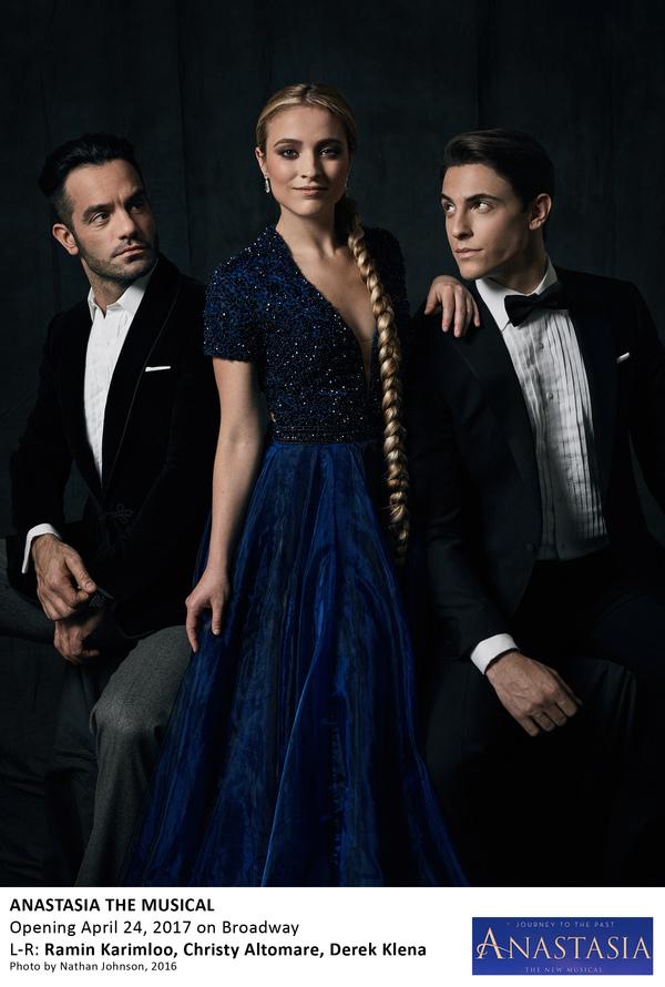 Ramin Karimloo, Christy Altomare, and Derek Klena