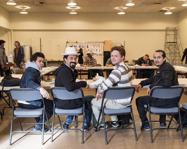 Photo Flash: Inside Rehearsal for ZOOT SUIT at the Taper with Luis Valdez and More