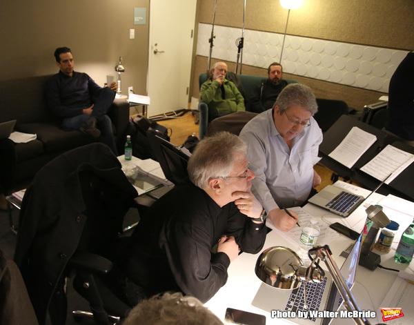 Nick Cordero, Alan Menken, and Ron Melrose, music supervisor and arranger