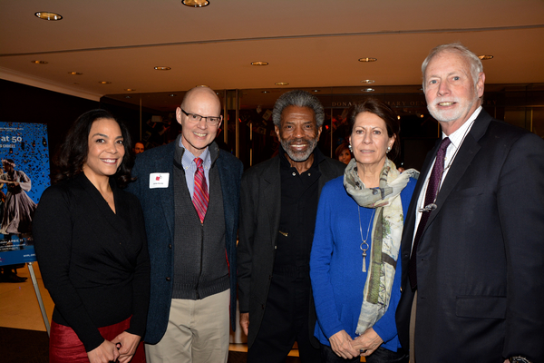 Rachel Leslie, James Bundy, Andre De Shields, Gaily Beinecke and John B. Beinecke