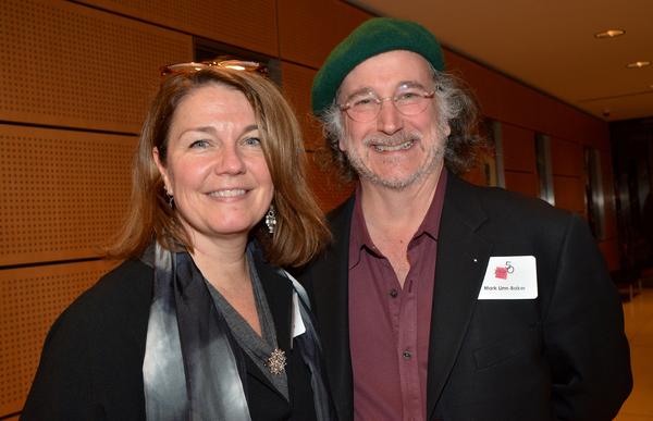 Christa Justus and Mark Linn-Baker