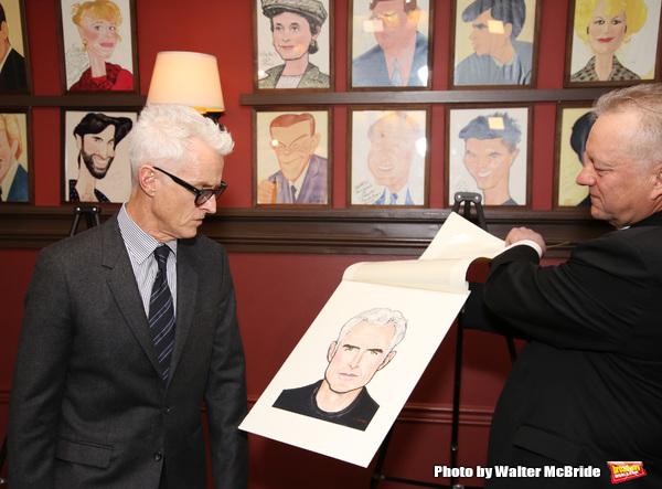 John Slattery with Max Klimavicius