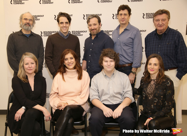 (L-R, 2nd row) Director Daniel Sullivan, playwright Steven Levenson, actors Jeremy Shamos, Gary Wilmes and Larry Bryggman, (L-R, 1st row) actors Tasha Lawrence, Kate Walsh, Seth Steinberg and Maria Dizzia